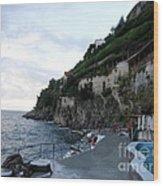 Pool In The Amalfi Santa Caterina Hotel Wood Print