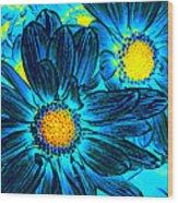 Pop Art Daisies 7 Wood Print