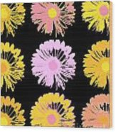 Pop Art Floral I -daisies -ii Wood Print