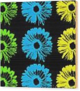 Pop Art Floral I Wood Print