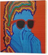 Pop Dylan Wood Print by Pete Maier