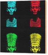 Pop Nefertiti Wood Print