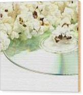 Popcorn And Movie  Wood Print