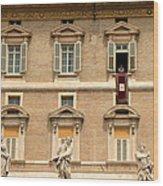 Pope Benedict Xvi C Wood Print by Andrew Fare