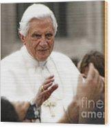Pope Benedict Xvi Wood Print