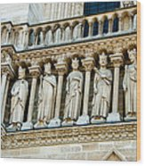 Popes At Notre Dame Cathedral Wood Print