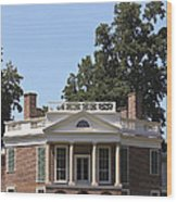 Poplar Forest From The Lawn Wood Print