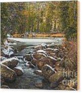Popo Agie River in Autumn Wood Print