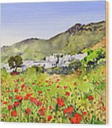 Poppies At Las Hortichuelas Wood Print