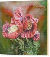 Poppies Big And Bold Wood Print