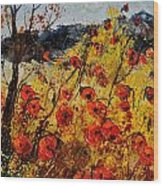 Poppies In Provence 456321 Wood Print