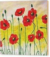 Poppies Wood Print by Sonya Ragyovska