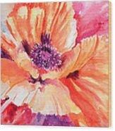 Poppy Fiesta Wood Print