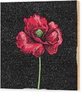 Poppy Flower, Woodcut Wood Print