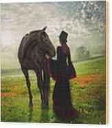 Poppy In The Field  Wood Print
