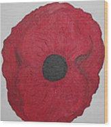 Poppy Of Rememberance Wood Print