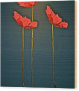 Poppy Power Wood Print