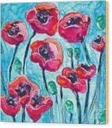 Poppy Sky Wood Print