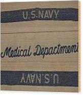 Pops W W I I Navy Blanket Wood Print