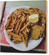 Popular Argentine Breaded-meat Dish Wood Print