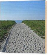 Popular Beach Path Wood Print