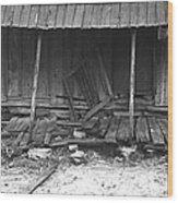Porch Of A Barely Standing Home Wood Print by Everett
