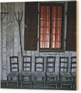 Porch Of The Bolduc House Museum Wood Print