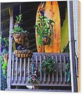 Porch Surf Wood Print