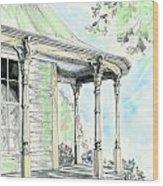 Porch Time Wood Print