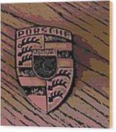 Porsche On Wood Wood Print