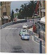 Porsches At Monte Carlo Casino Square Wood Print