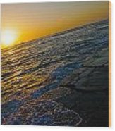 Port Aransas Sunrise Wood Print