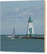Port Dalhousie Lighthouse Wood Print