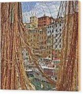 Port Of Camogli Wood Print