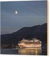 Port Of Juneau Wood Print