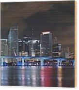 Port Of Miami Downtown Wood Print