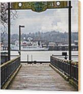 Port Of Newport Wood Print