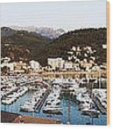 Port Of Soller Wood Print