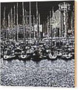 Port Vell Barcelona Wood Print