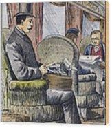 Portable Typewriter, 1889 Wood Print