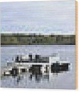Portage Lake Panorama Wood Print