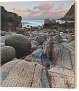 Porth Nanven Sunrise Wood Print