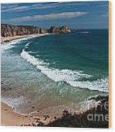 Porthcurnow Beach Wood Print
