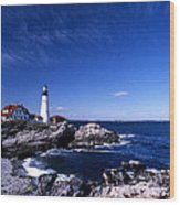 Portland Head Offshore Wood Print