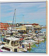 Portland Maine Harbor Wood Print