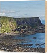 Portnaboe Bay At Giants Causeway Wood Print