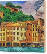 Portofino II Wood Print by George Rossidis