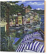 Portofino Wood Print by Lisa Reinhardt