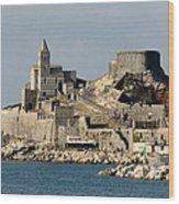 Portovenere's Church And Fortress Wood Print