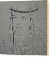 Portrait 1971 Colette Wood Print